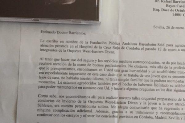 Dr. Barrientos Naz y la Fundación Baremboim-Said